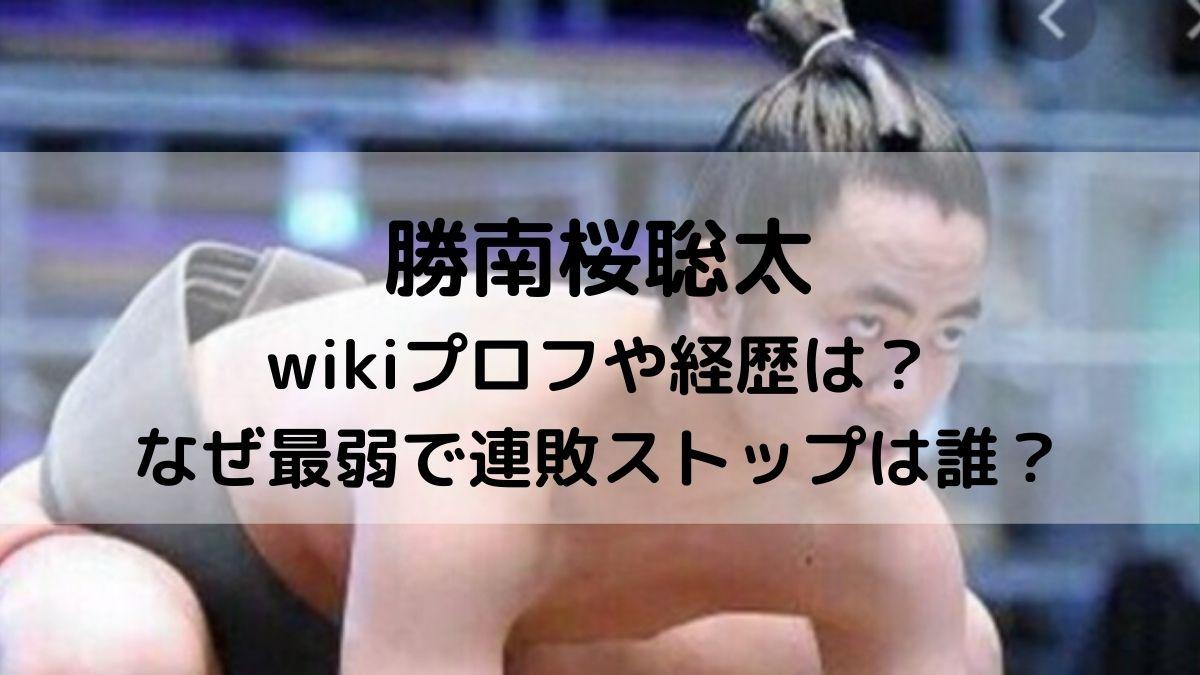 勝南桜聡太のwikiプロフ