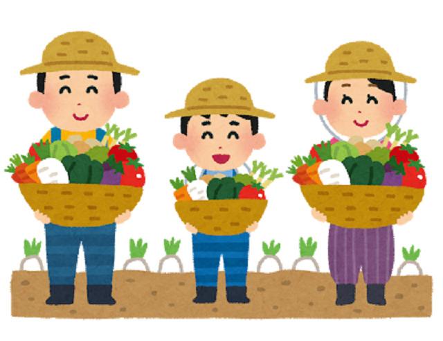 イラスト:農家の家族